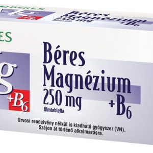 Béres Magnesium 250mg+B6 Vitamin 60x